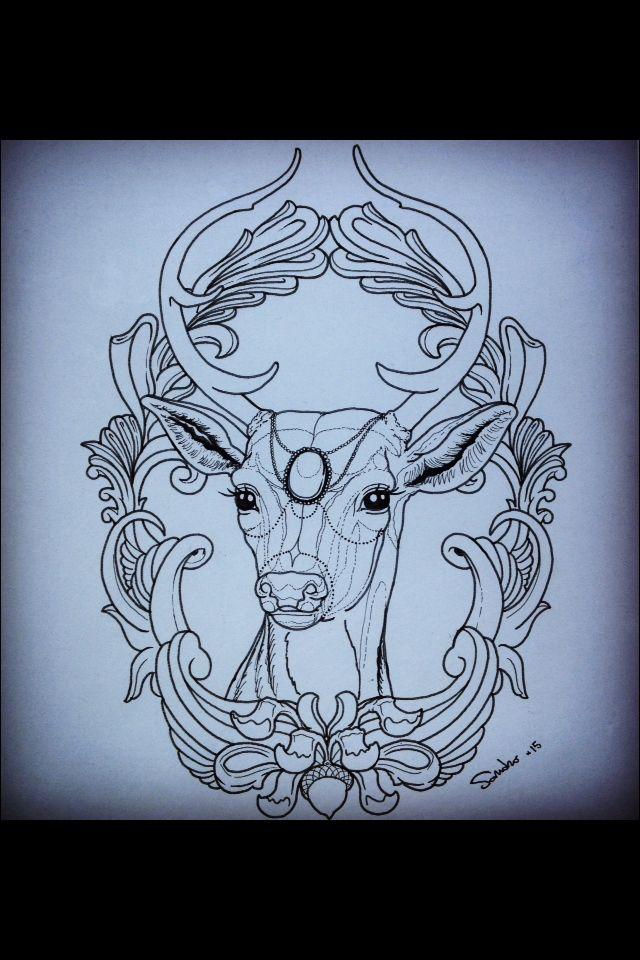 #Deer #hirsch #cervo #tattoo #disegno