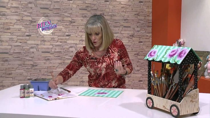 Mónica Sayous - Bienvenidas en HD - Pinta Rosas con la técnica de Doble ...