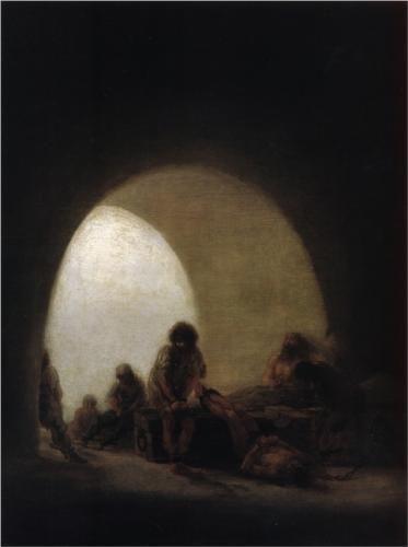 Una escena de la prisión - Francisco de Goya
