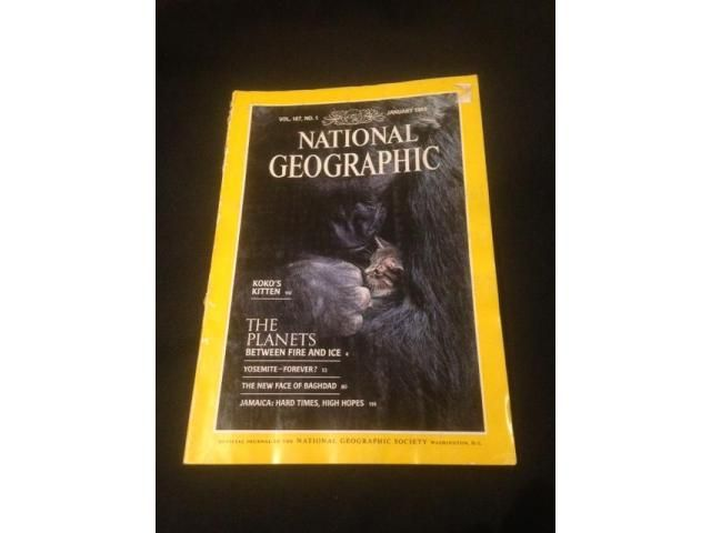 National Geographic - January 1985 Articles include: - The Planets between fire and ice - Yosemite - forever? Jamaica: Hard times, high hopes
