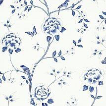 Фото: бело-синие обои для стен 212163 - Ампир Декор