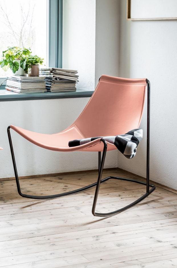 Rocking tanned leather #chair APELLE by @midjinitaly