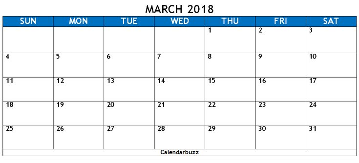 152 Best 2018 Calendar Templates Images On Pinterest