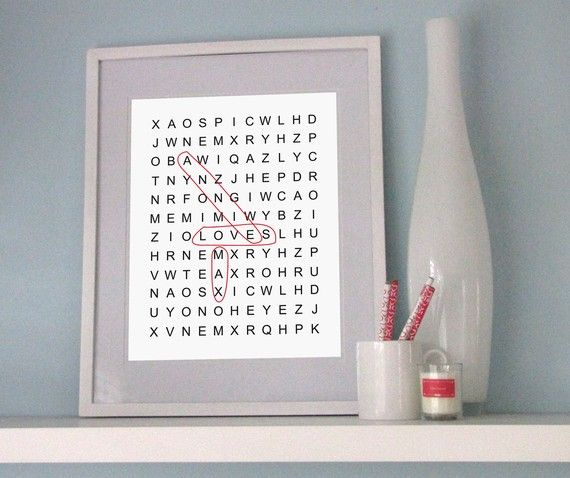 great idea for anniversary : Wall Art, Inspiration Artworks, Teen Bedrooms, Puzzles Prints, Gifts Ideas, Kids Spaces, 25 Www Mysweetprint Etsy Com, Wordsearch Photo, Crafty Ideas