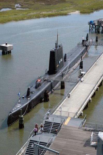 USS Clamagore, Mt. Pleasant, SC. The submarine is in the collection of the Patriots Point Naval Maritime Museum.