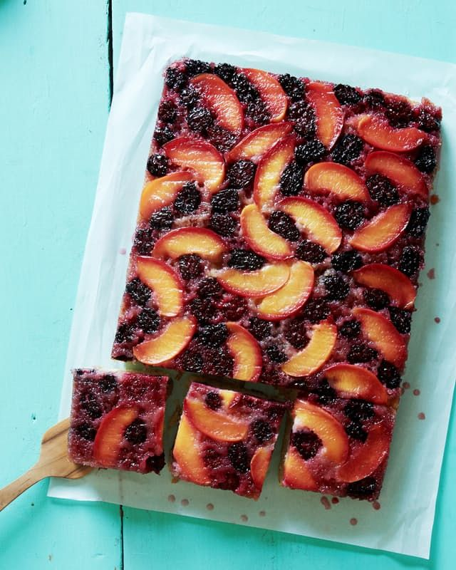 Don't think pineapple is the only fruit that gets to have all the fun when it comes to upside-down cakes. Here, a sparkling combination of inky sweet blackberries and tender nectarines gives a classic yellow cake a jewel-toned finish. If you're due to bring a summery dessert to an office party or barbecue, you'll want to save this recipe for just that.
