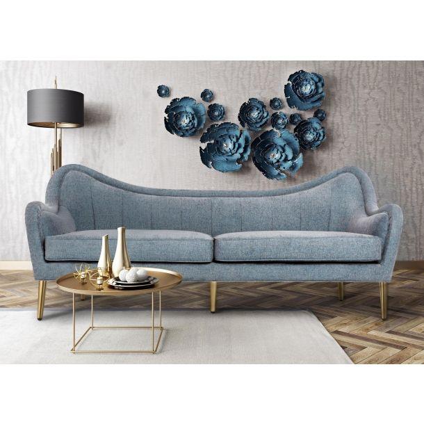 Vanessa Grey Sky Sofa Memoky Com Gold Sofa Furniture Contemporary Sofa