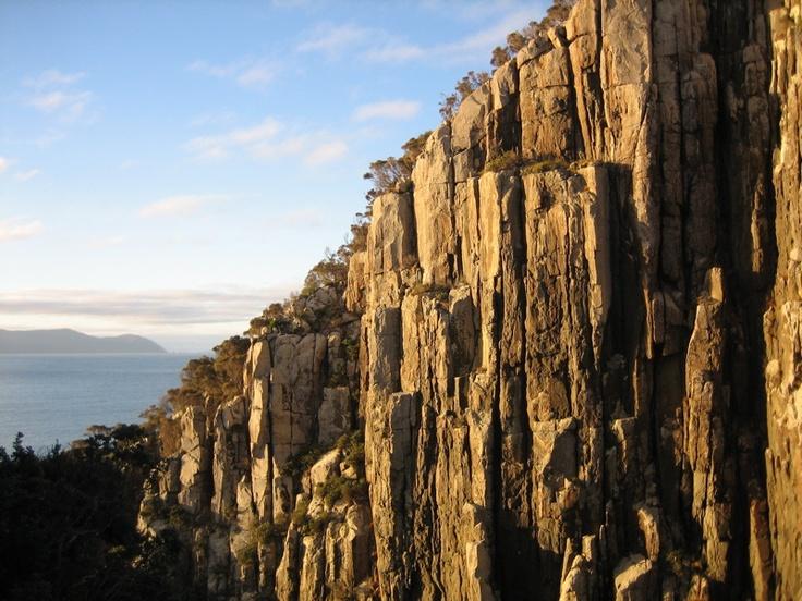 Cape Huay, a rock climber's paradise, #Tasmania #Australia Via: http://pullharder.org/2009/03/09/insanity-down-under-totem-pole-onsight-ascent/
