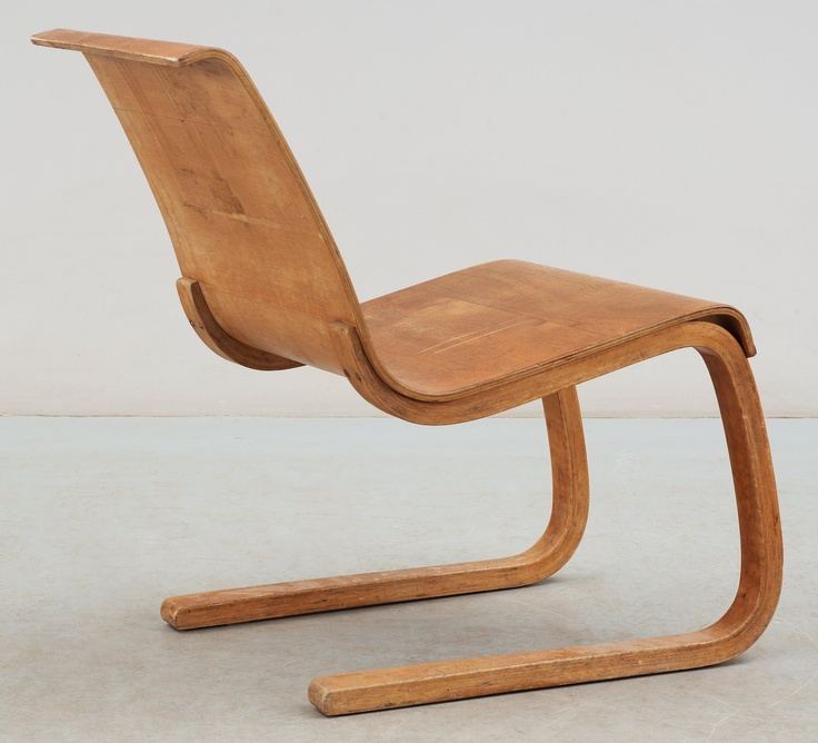 ALVAR AALTO, stol, modell 21, Huonekalu-ja Rakennustyötehdas Oy, Finland 1930-40-tal.