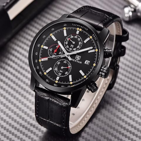 BENYAR Fashion Chronograph Sport Men's Luxury Quartz Watch – Blueshine Jewellery