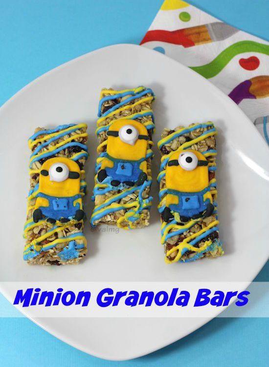 Homemade Minions Granola Bars Recipe - From Val's Kitchen