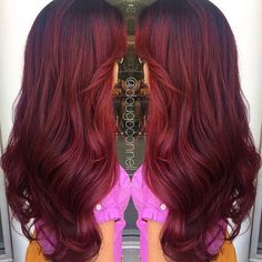 Finally my red hair that's Pinterest worthy! Deep red velvet melt by me ❤️…
