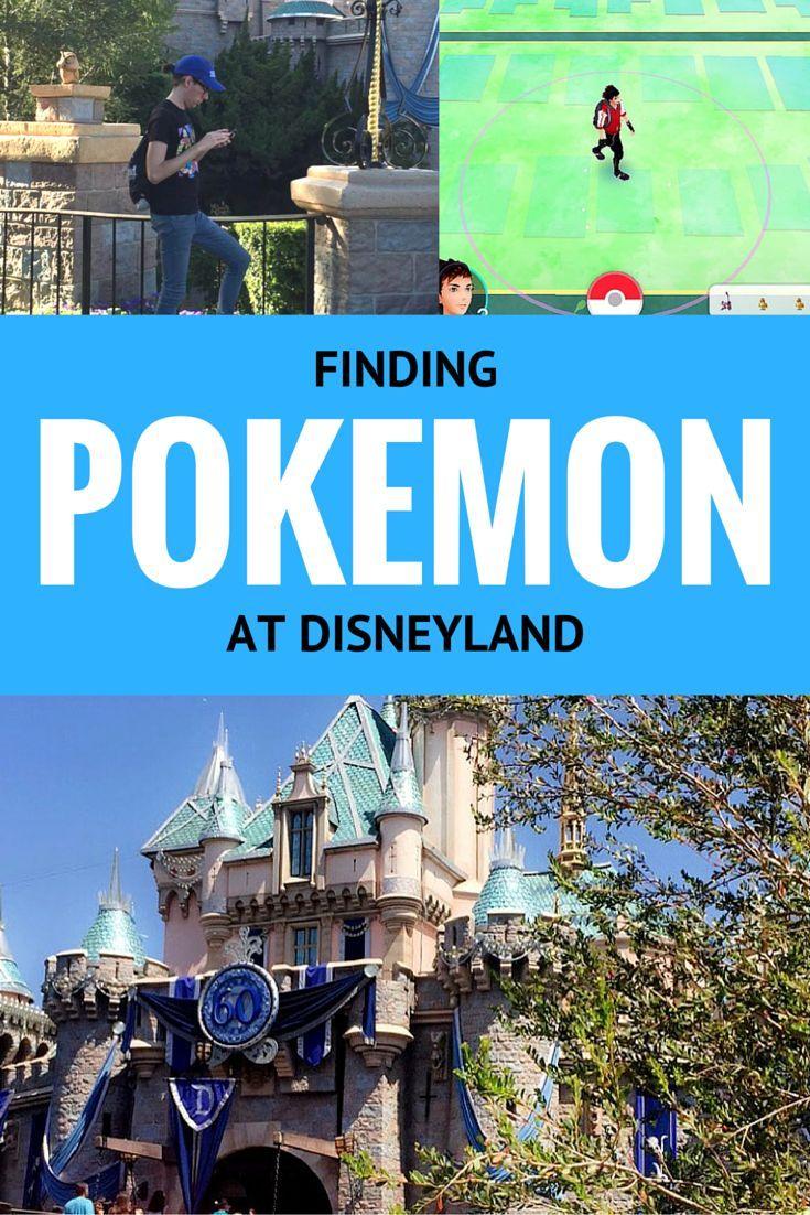 Finding Pokemon at Disneyland | Pokemon Go