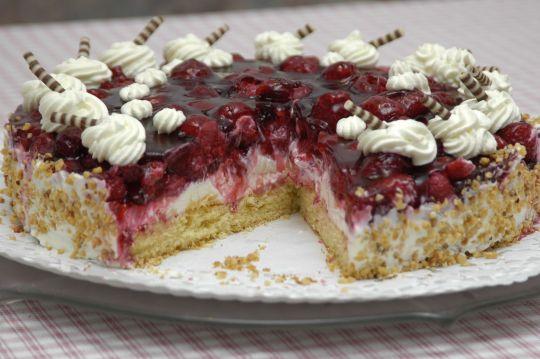 Himbeer-Frischkäse-Torte