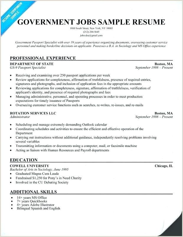 Government Resume Sample Philippines
