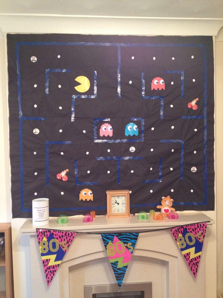 Homemade Pacman Wall Decoration Scene Setter Care Bear