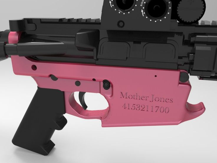 A Reddit Gun Lover Has A Hilarious Present For Anti-Gun Mother Jones: a 3D-printed lower receiver for an AR-15, complete with Mother Jones' logo.
