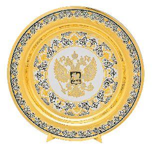 Подарочная тарелка Герб РФ - Блюда с логотипом <- Корпоративное <- VIP - Каталог | Универсальный интернет-магазин подарков и сувениров