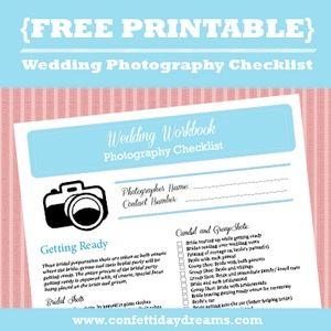 Wedding Photography Checklist {Wedding Planning Series}