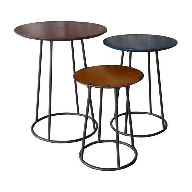 moeu0027s home collection metal end table black set of
