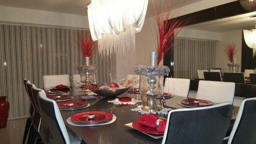 Navidad Roja Plateada y Blanca