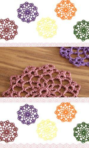 毛糸と手織り糸のメーカーです。「モチーフ編み」作品