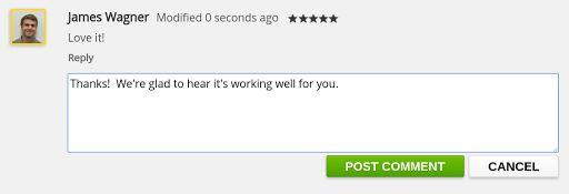 Google adds replies to Chrome Web Store reviews - https://www.aivanet.com/2015/10/google-adds-replies-to-chrome-web-store-reviews/