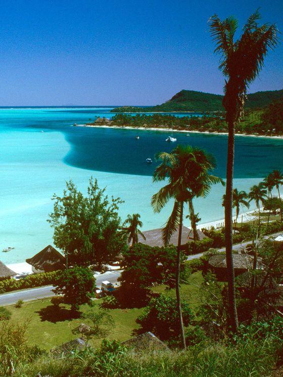 Matira Beach, Bora Bora (Polynésie française)