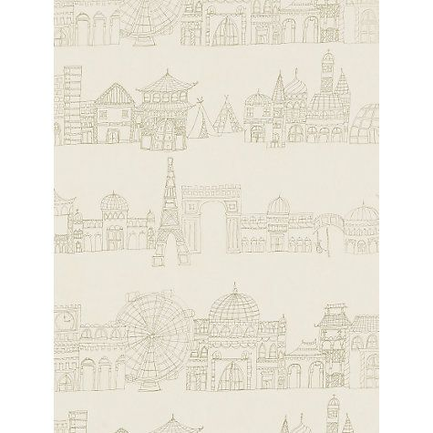 Buy Harlequin Wallpaper, Distant Shores 70800, Cream / Gold Online at johnlewis.com
