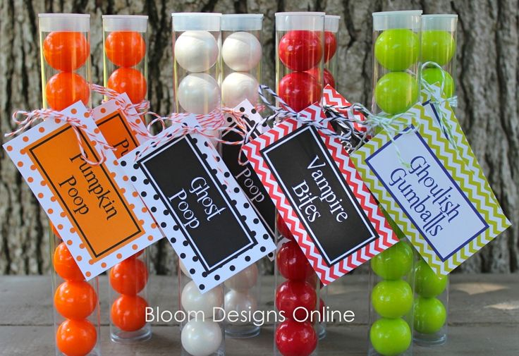 Pumpkin Poop,Ghost Poop, Ghoulish Gumballs, and Vampire Bites- Free Tags from Bloom