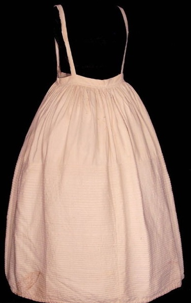1820 extant corded petticoat w/ braces from TimeTravelers Antiques