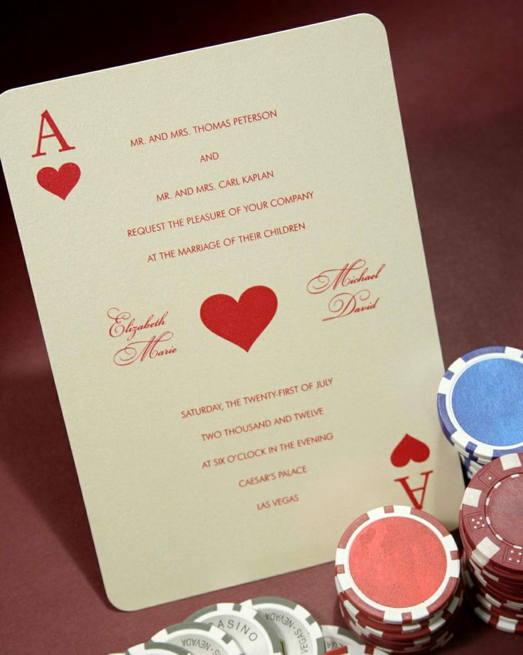 Wedding Invitations that look like a deck