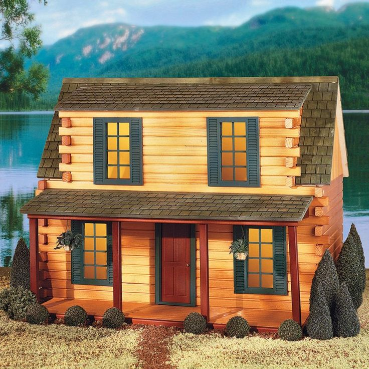 338 best images about miniature log cabins on pinterest for Adirondack cabin builders