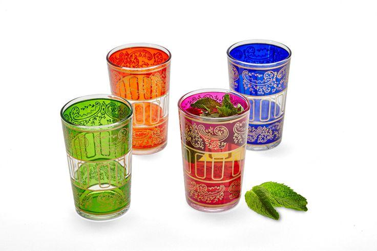 Set Of Four Tea Glasses