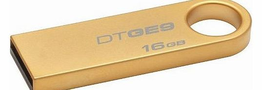 Kingston Technology 16GB DataTraveler USB 2 GE9 DTGE9/16GB with Gold Metal Casing No description (Barcode EAN = 5054063089019). http://www.comparestoreprices.co.uk/memory-stick/kingston-technology-16gb-datatraveler-usb-2-ge9-dtge9-16gb-with-gold-metal-casing.asp