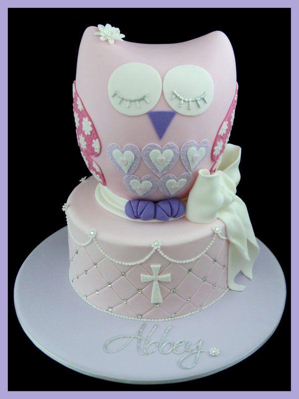 Owl Christening cake