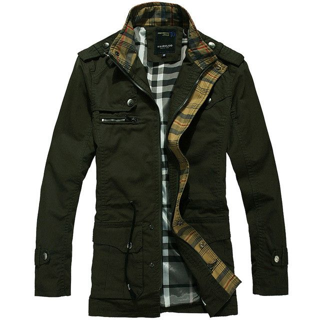 New Men's Long Coat Epaulet Shoulder Trench Jacket Men drawstring waist overcoat Cotton outwear Casual jackets