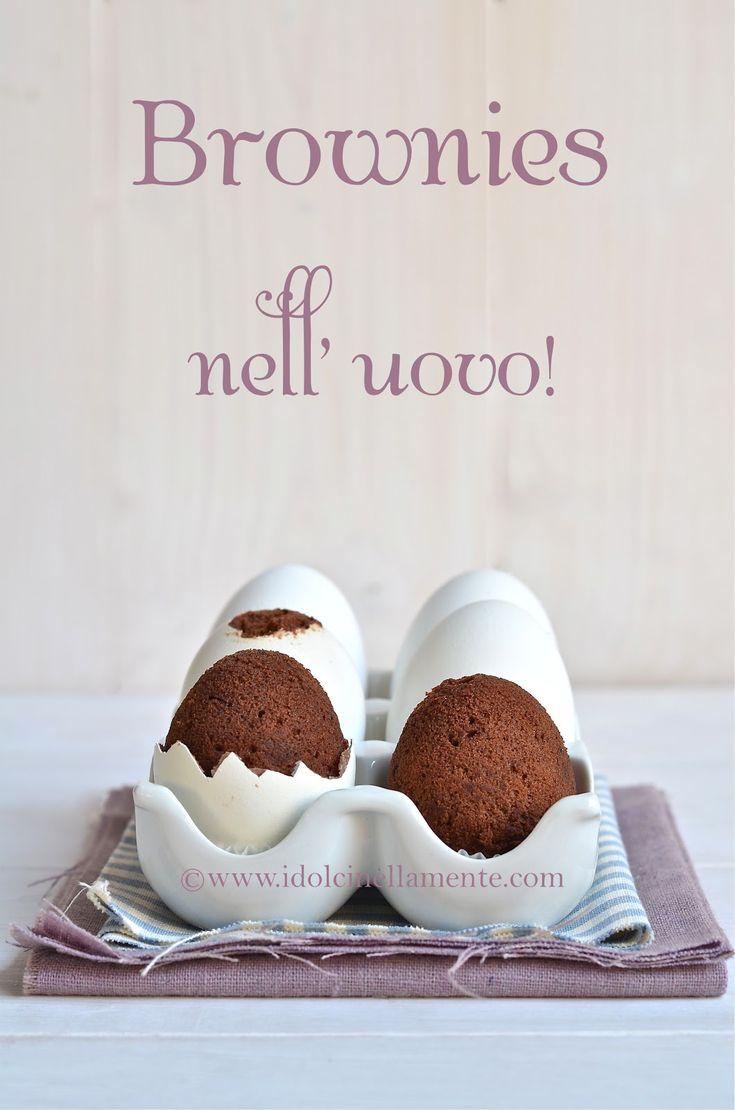 La gallina ha fatto il dolce…..Brownies nell' uovo e Buona Pasqua!