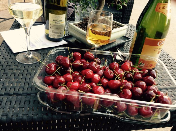 I love living in France! #ilovefrance cherries and cider