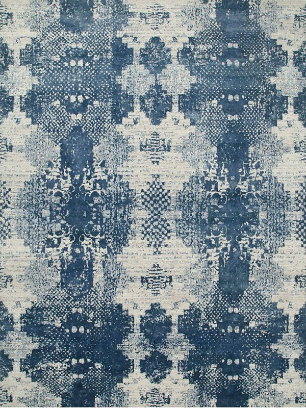 661 Classic Grey – Skyline Blue | The Rug Collection