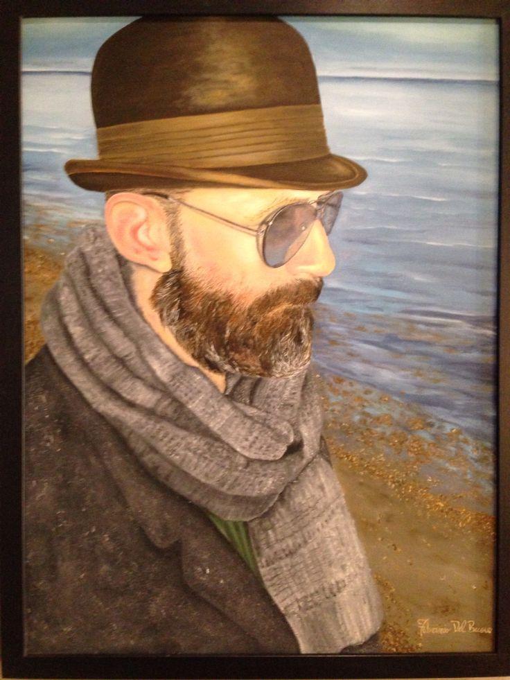 Fabrizio Del Buono self portrait Oil on canvas 60x80