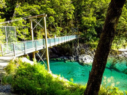 Blue Pools, Haast Pass on the West Coast, New Zealand