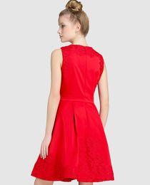 Vestido Tintoretto de satén con guipur