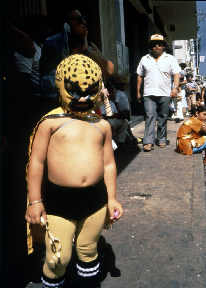 Nan Goldin, Mexican Kid at Carnival. Merida. Mexico, 1982 ?