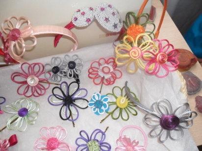 flores de cola de raton para diademas pillapelos broches etc