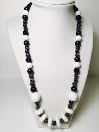 Just Black and White by DressItUpbyDenise on Etsy