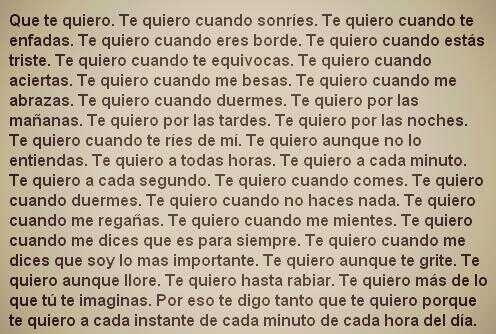 te quiero |