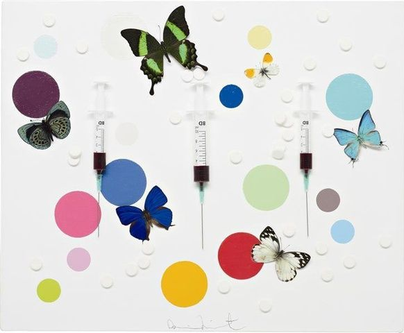 Damien Hirst, Happiness, 2008 at www.meadcarney.com  #DamienHirst #MeadCarney #London #art #artgallery