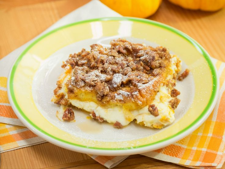 Pumpkin French Toast Casserole recipe from Marcela Valladolid via Food Network