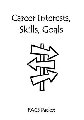 FCS Classes - free printables for career interest